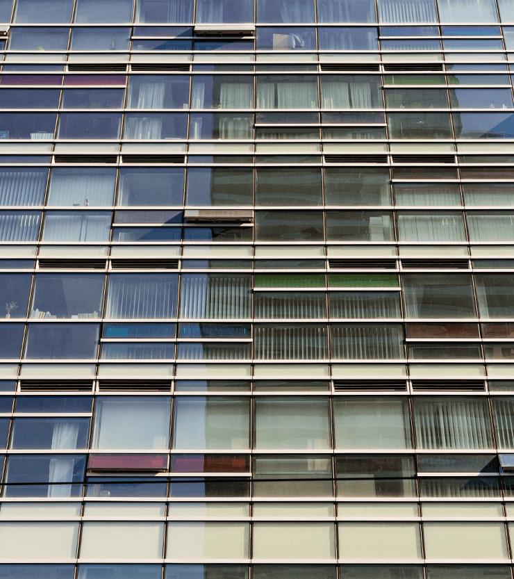 close up of M5V Building
