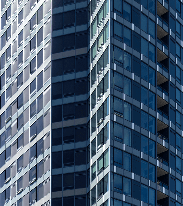 close up of Tower 12 Building