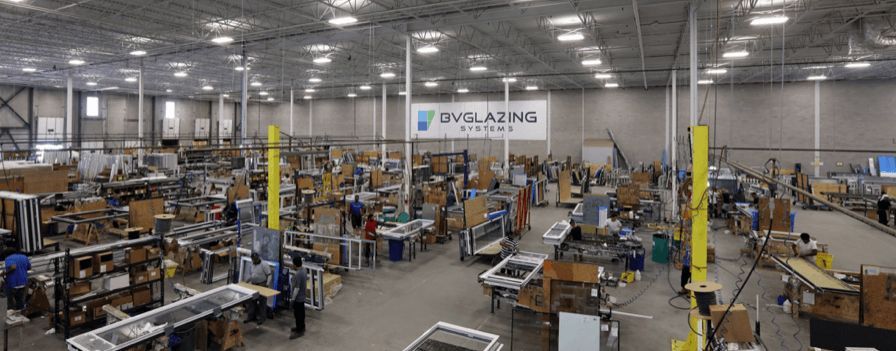 Inside the BVGlazing Warehouse