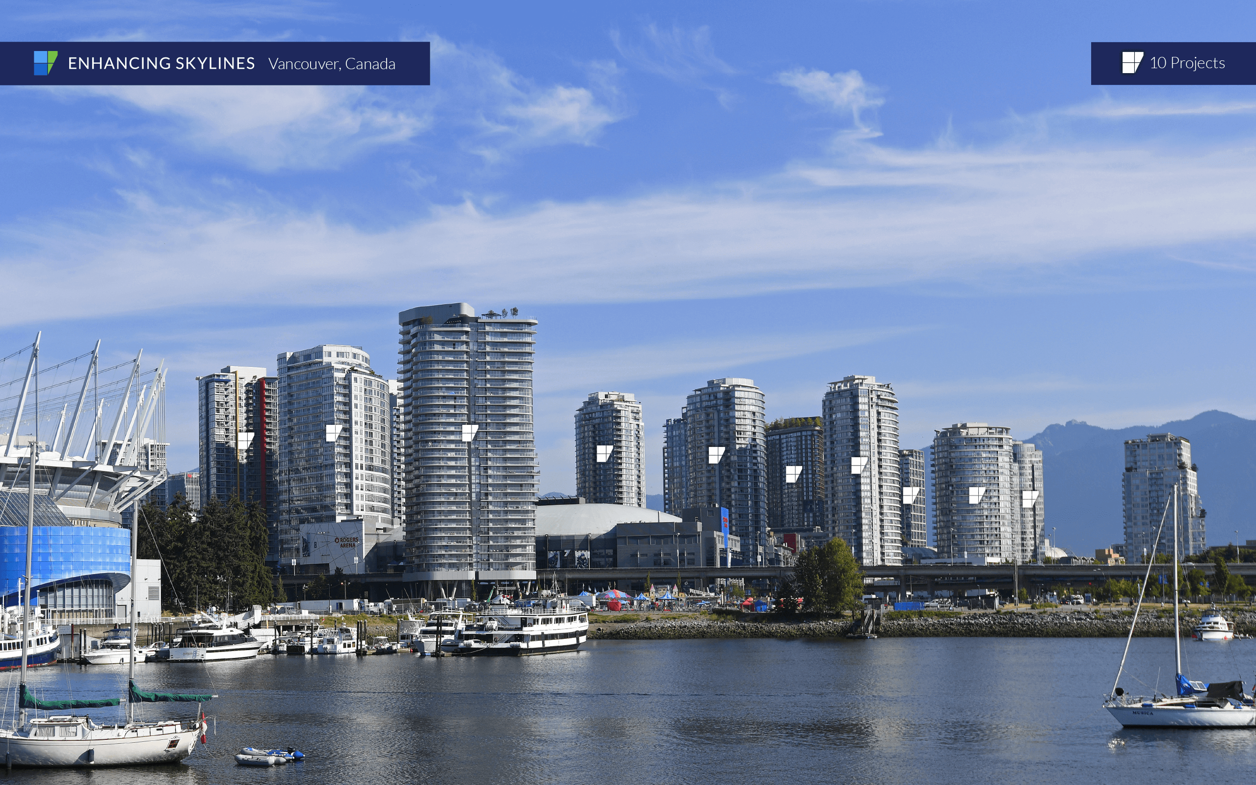 Vancouver Skyline with BVGlazing Systems building