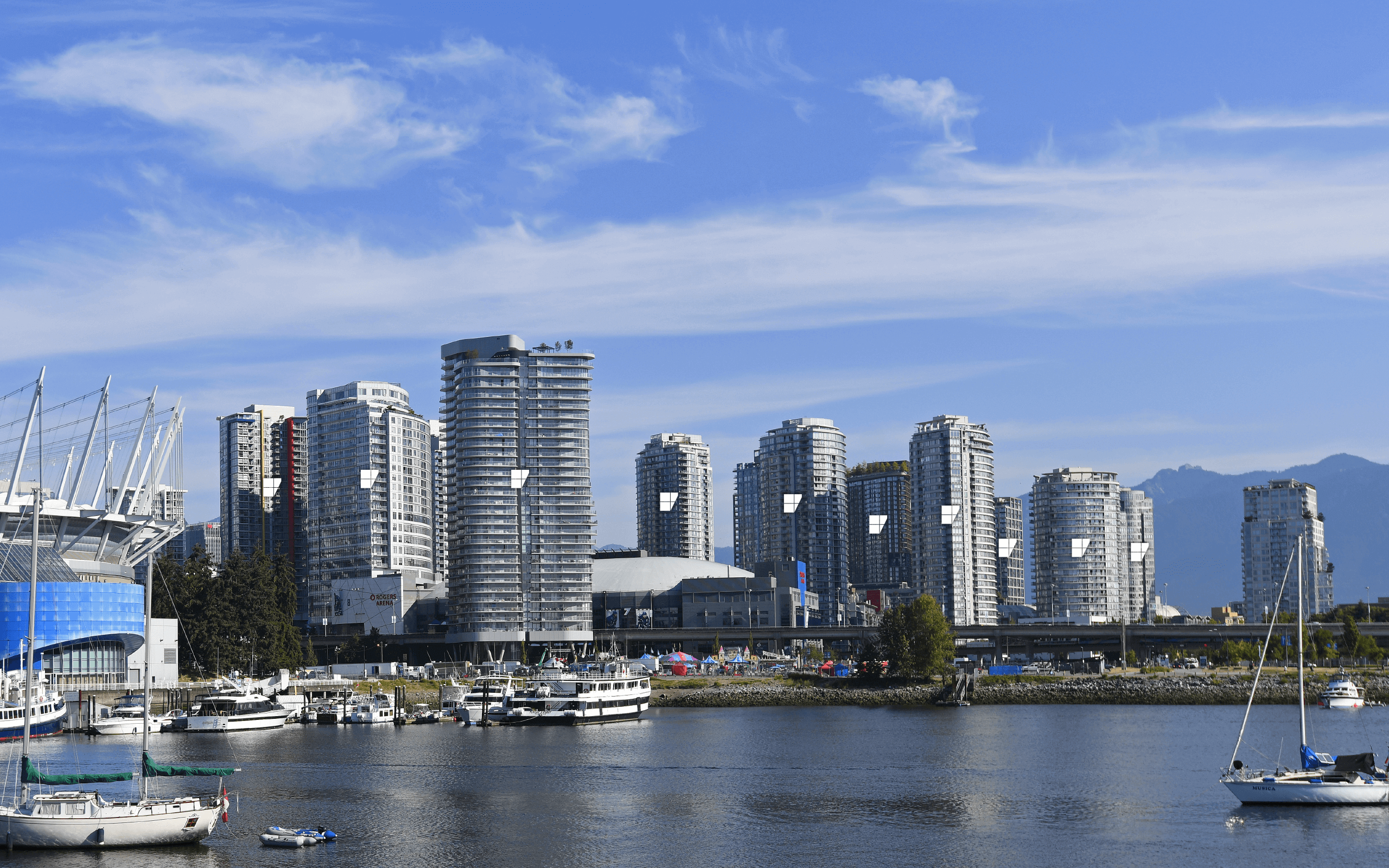 British Columbia Skyline with BVGlazing Systems Building