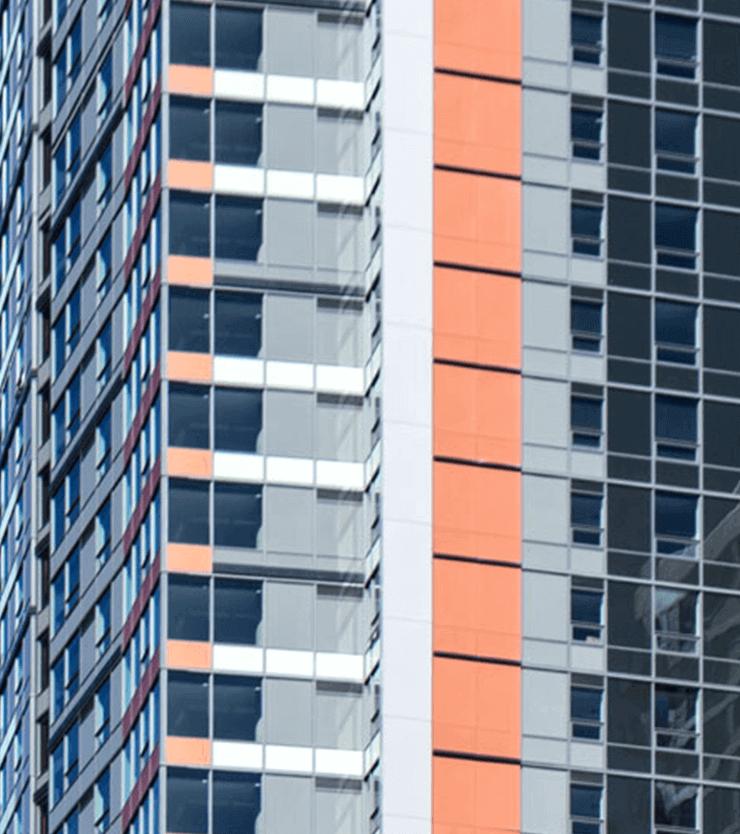 Arrivé Seattle building closeup
